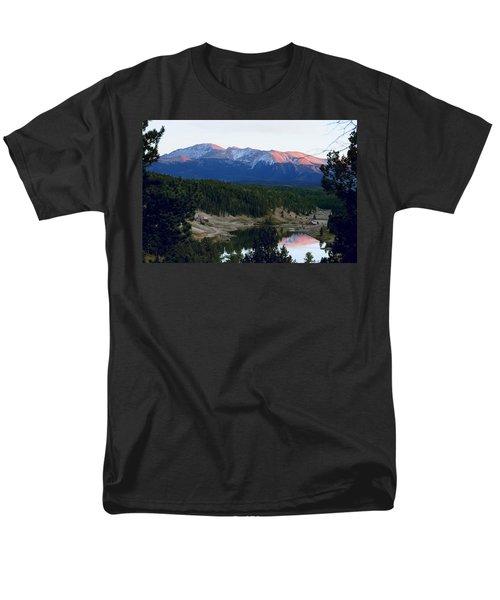 Pikes Peak Sunset Men's T-Shirt  (Regular Fit) by Marilyn Burton