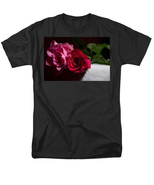 Men's T-Shirt  (Regular Fit) featuring the photograph Pink And Red Rose by Matt Malloy