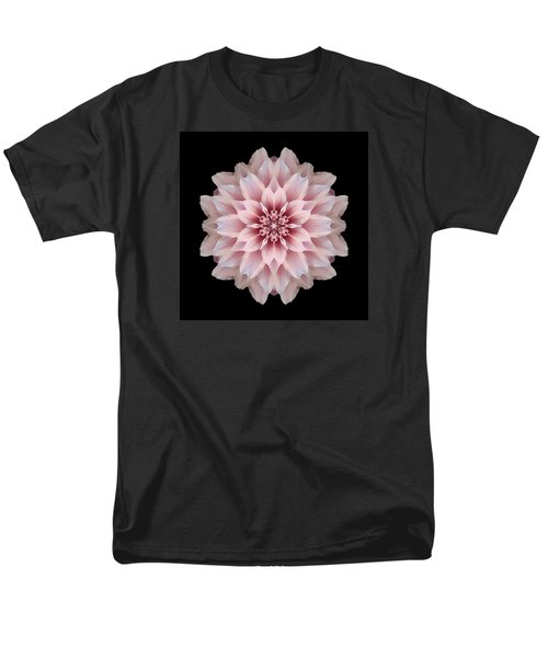 Pink Dahlia Flower Mandala Men's T-Shirt  (Regular Fit)