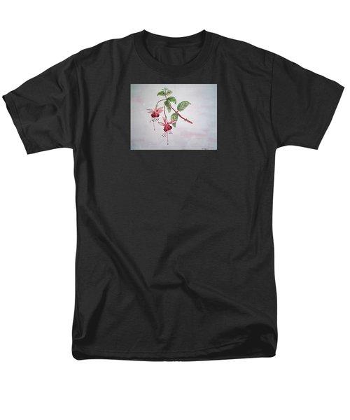 Pink Fuchsia's  Men's T-Shirt  (Regular Fit) by Elvira Ingram
