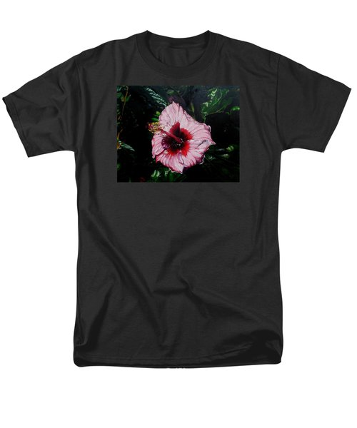 Pink Hibiscus Men's T-Shirt  (Regular Fit) by Raymond Perez