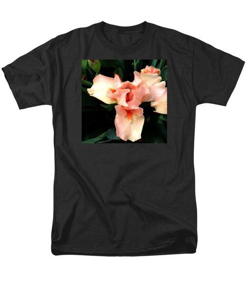 Pink Iris Men's T-Shirt  (Regular Fit) by The Art of Alice Terrill