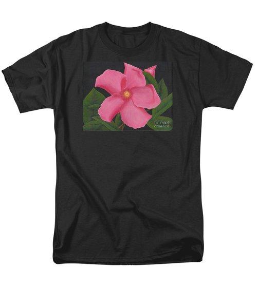 Pink Mandevilla Men's T-Shirt  (Regular Fit) by Billinda Brandli DeVillez
