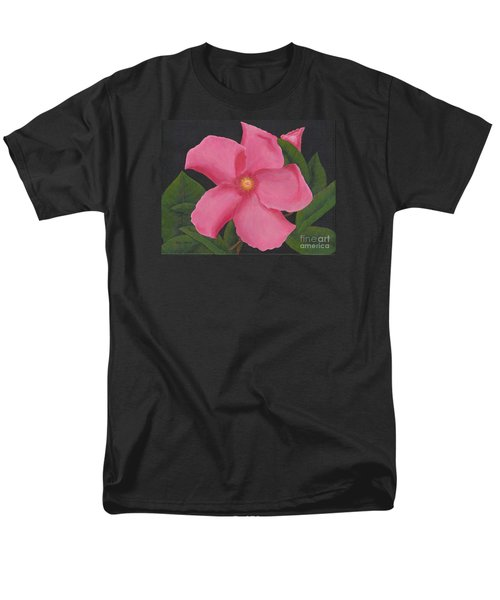 Pink Mandevilla Men's T-Shirt  (Regular Fit)