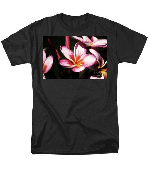 Men's T-Shirt  (Regular Fit) featuring the photograph Pink Plumeria by Angela DeFrias