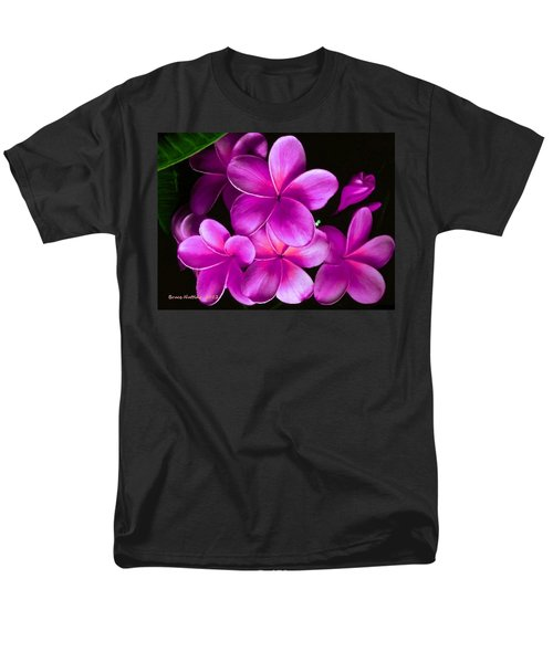 Pink Plumeria Men's T-Shirt  (Regular Fit) by Bruce Nutting