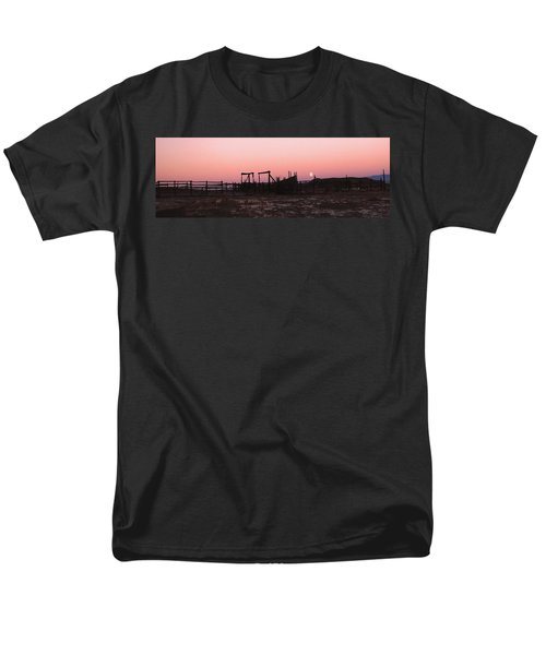 Pink Sunset Over Corral Men's T-Shirt  (Regular Fit) by Cathy Anderson