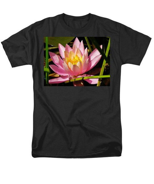 Pink Water Lily Men's T-Shirt  (Regular Fit) by Sherman Perry