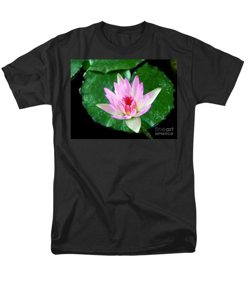 Men's T-Shirt  (Regular Fit) featuring the photograph Pink Waterlily Flower by David Lawson