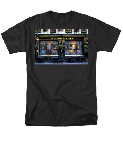 Pissed As A Newt Pub  Men's T-Shirt  (Regular Fit) by David Pyatt
