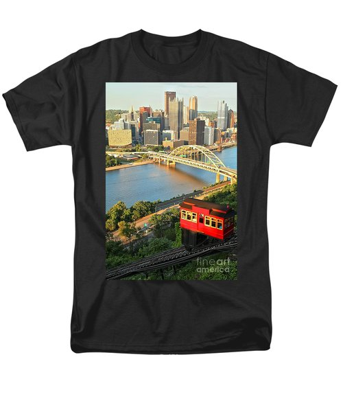 Pittsburgh Duquesne Incline Men's T-Shirt  (Regular Fit) by Adam Jewell