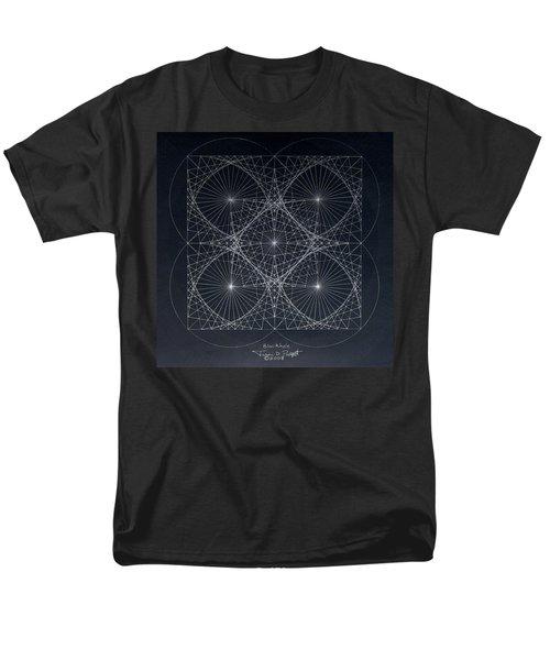 Men's T-Shirt  (Regular Fit) featuring the drawing Plancks Blackhole by Jason Padgett