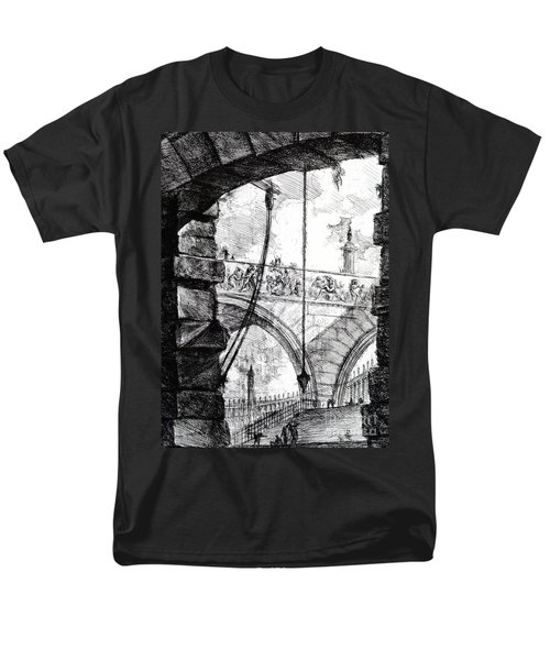 Plate 4 From The Carceri Series Men's T-Shirt  (Regular Fit) by Giovanni Battista Piranesi