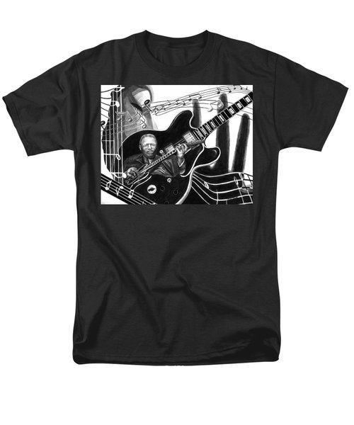 Playing With Lucille - Bb King Men's T-Shirt  (Regular Fit) by Peter Piatt