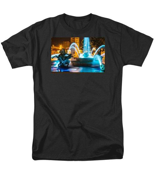 Plaza Blue Fountain Men's T-Shirt  (Regular Fit) by Steven Bateson