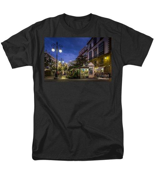 Plaza De Las Flores Cadiz Spain Men's T-Shirt  (Regular Fit) by Pablo Avanzini