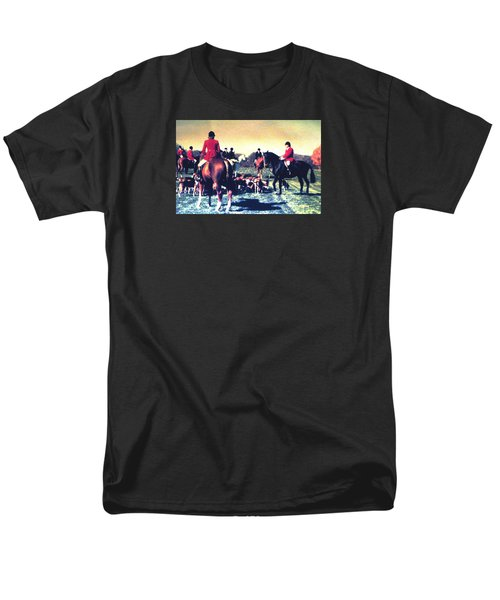 Men's T-Shirt  (Regular Fit) featuring the photograph Plum Run Hunt Opening Day by Angela Davies