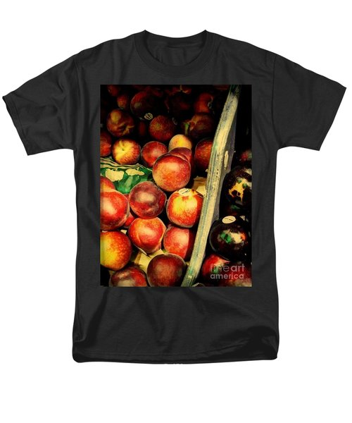 Men's T-Shirt  (Regular Fit) featuring the photograph Plums And Nectarines by Miriam Danar