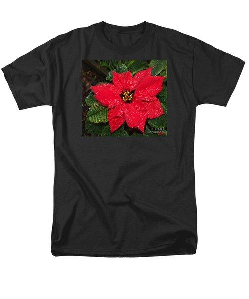 Poinsettia - Frozen In Time Men's T-Shirt  (Regular Fit) by Philip Bracco