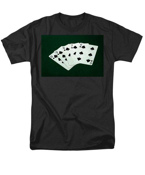 Poker Hands - Straight Flush 1 Men's T-Shirt  (Regular Fit) by Alexander Senin