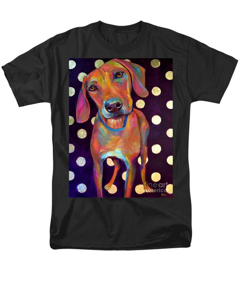 Men's T-Shirt  (Regular Fit) featuring the painting Polka Pooch by Robert Phelps