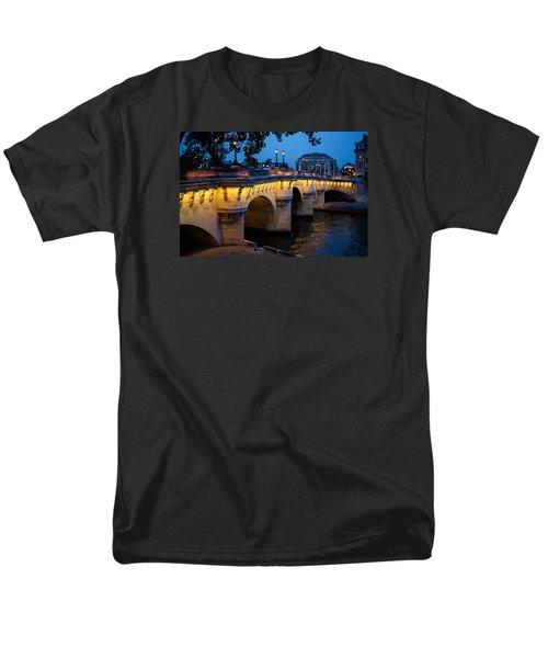 Pont Neuf Bridge - Paris France I Men's T-Shirt  (Regular Fit) by Georgia Mizuleva