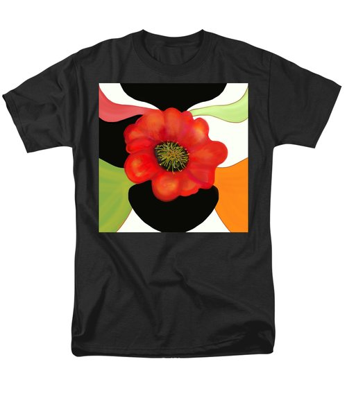Pop Poppy Men's T-Shirt  (Regular Fit)