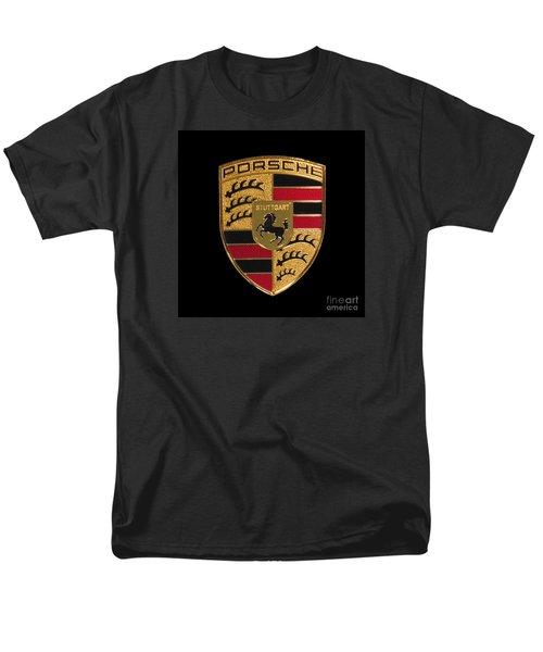 Porsche Emblem - Black Men's T-Shirt  (Regular Fit) by Scott Cameron
