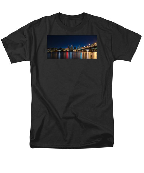 Portland Oregon Nightscape Men's T-Shirt  (Regular Fit) by Don Schwartz
