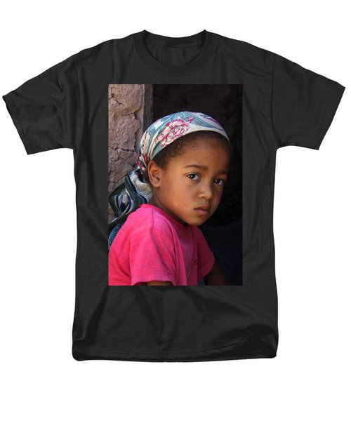 Portrait Of A Berber Girl Men's T-Shirt  (Regular Fit) by Ralph A  Ledergerber-Photography