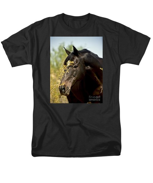 Portrait Of A Thoroughbred Men's T-Shirt  (Regular Fit) by Kathy McClure