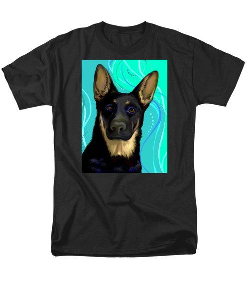 Men's T-Shirt  (Regular Fit) featuring the digital art Portrait Of A German Shepherd Dog by Karon Melillo DeVega