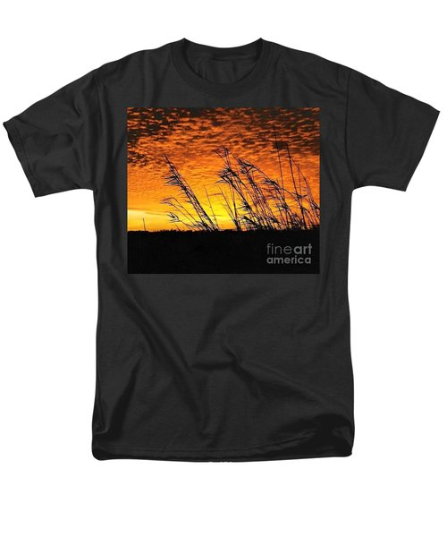 Men's T-Shirt  (Regular Fit) featuring the photograph Post Hurricane Rita At Dockside In Beaumont Texas Usa by Michael Hoard