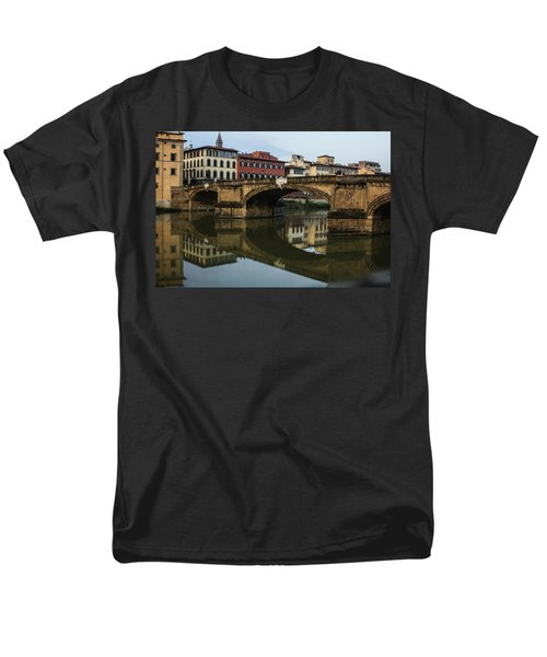 Men's T-Shirt  (Regular Fit) featuring the photograph Postcard From Florence  by Georgia Mizuleva