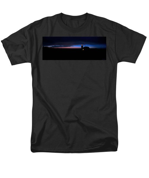 Pre Dawn Light Panorama At Quoddy Men's T-Shirt  (Regular Fit) by Marty Saccone
