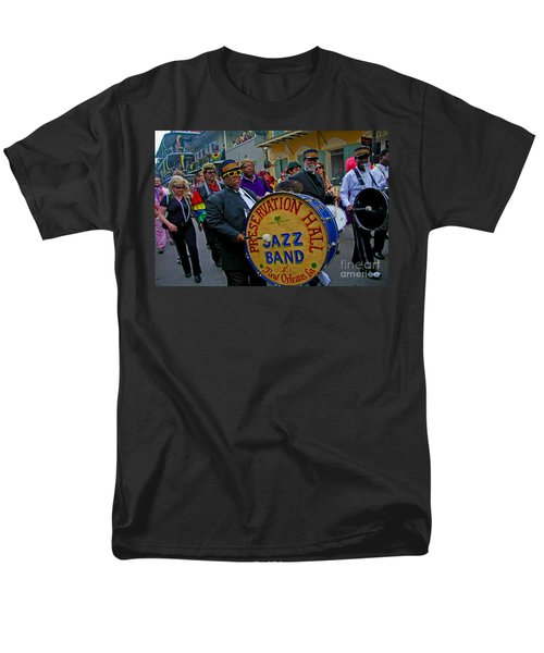 New Orleans Jazz Band  Men's T-Shirt  (Regular Fit) by Luana K Perez