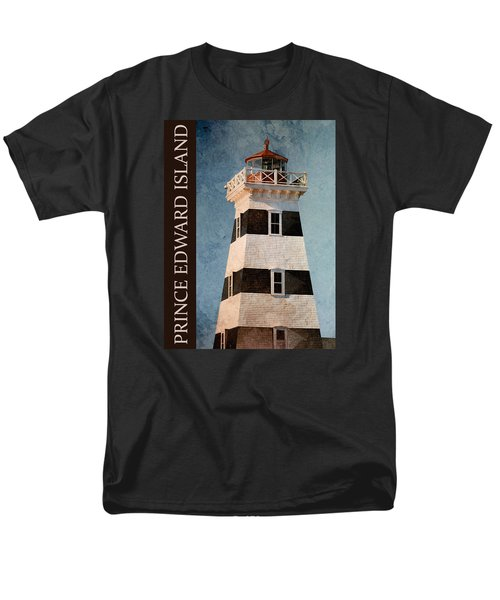 Men's T-Shirt  (Regular Fit) featuring the photograph Prince Edward Island Lighthouse by WB Johnston