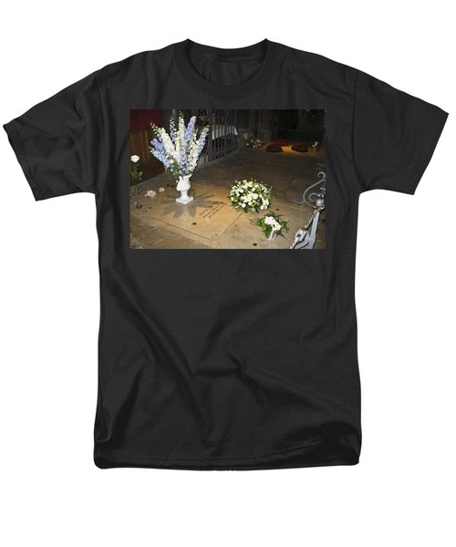 Men's T-Shirt  (Regular Fit) featuring the photograph Princess Grace Tomb by Allen Sheffield