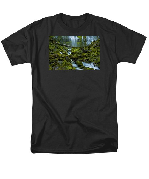 Men's T-Shirt  (Regular Fit) featuring the photograph Proxy Falls by Nick  Boren