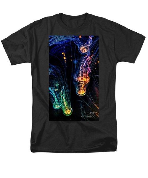 Psychedelic Cnidaria Men's T-Shirt  (Regular Fit) by Olga Hamilton
