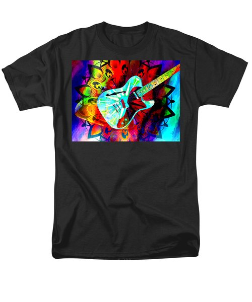 Psychedelic Guitar Men's T-Shirt  (Regular Fit) by Ally  White