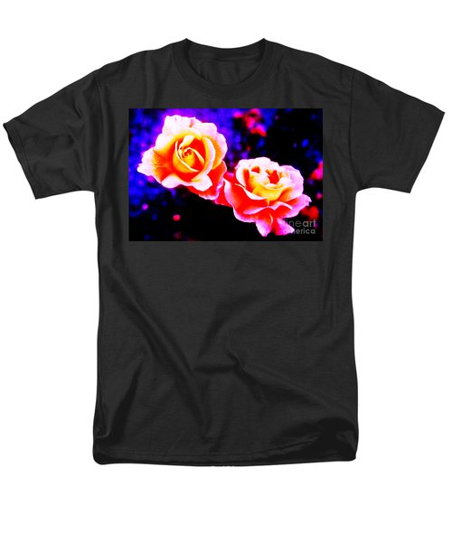 Psychedelic Roses Men's T-Shirt  (Regular Fit) by Martin Howard