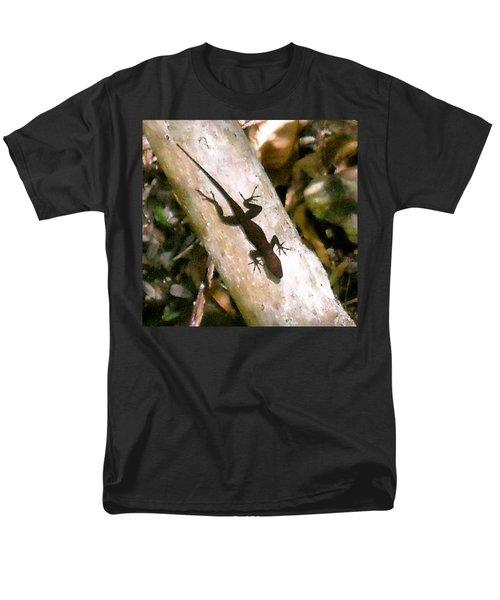 Men's T-Shirt  (Regular Fit) featuring the photograph Puerto Rico Lizard by Daniel Sheldon