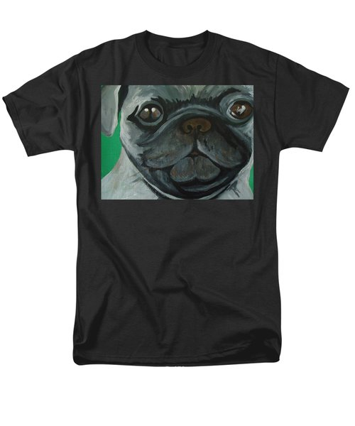 Men's T-Shirt  (Regular Fit) featuring the painting PUG by Leslie Manley
