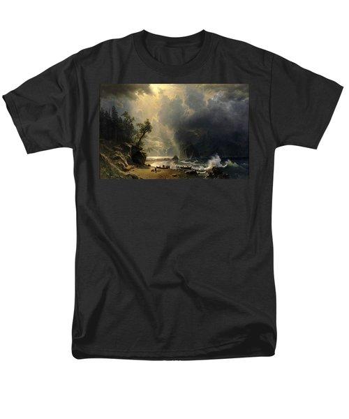 Puget Sound On The Pacific Coast Men's T-Shirt  (Regular Fit) by Albert Bierstadt