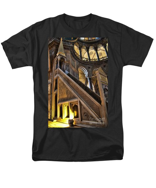 Pulpit In The Aya Sofia Museum In Istanbul  Men's T-Shirt  (Regular Fit) by David Smith