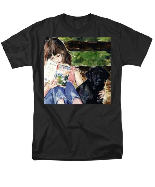 Pup And Paperback Men's T-Shirt  (Regular Fit) by Molly Poole