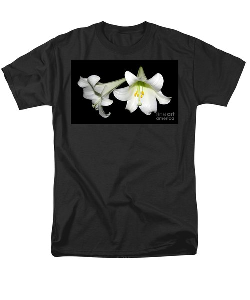 Men's T-Shirt  (Regular Fit) featuring the photograph Pure White Easter Lilies by Rose Santuci-Sofranko