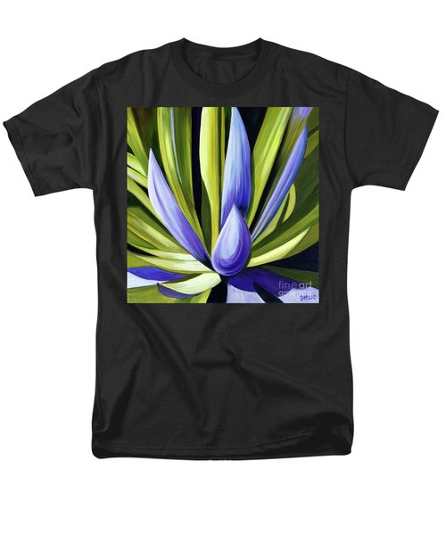 Purple Cactus Men's T-Shirt  (Regular Fit) by Debbie Hart