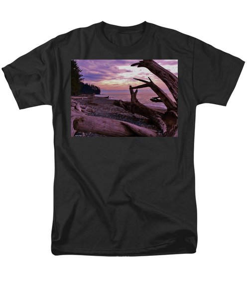 Men's T-Shirt  (Regular Fit) featuring the photograph Purple Dreams In Bc by Barbara St Jean